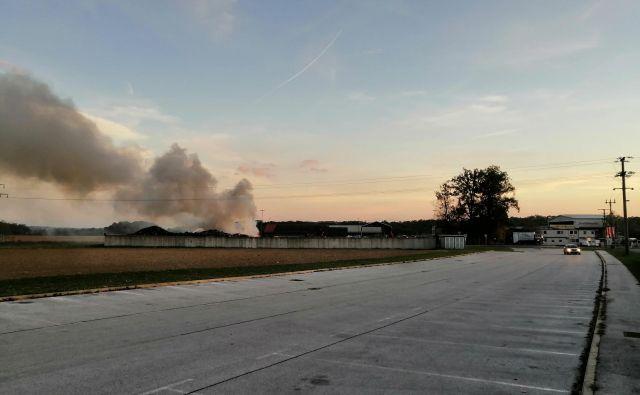 Gasilci so ogenj že omejili. FOTO: Davorin Vogrin