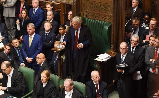 Predsednik spodnjega doma britanskega parlamenta je blokiral novo glasovanje o ločitvenem sporazumu z razlago, da bi to kršilo parlamentarna pravila. Foto: Jessica Taylor/Afp