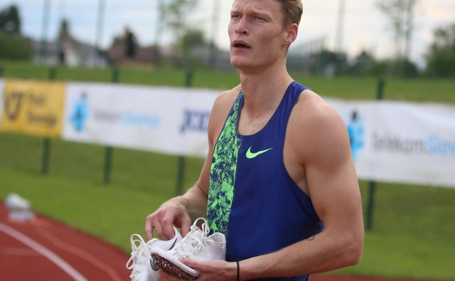 Med olimpijskimi kandidati, ki so bili zbrani v Portorožu, je tudi atlet Luka Janežič. FOTO Tadej Regent/Delo