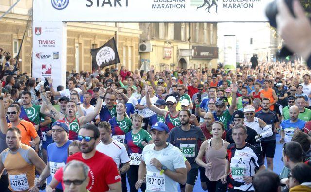 Ljubljanski maraton je ena od komercialno najbolj donosnih prireditev za »rekreativne profesionalce« v Ljubljani. FOTO: Roman Šipić/Delo