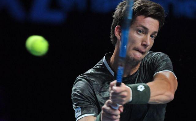 Aljaž Bedene je bil uspešen v prvem kolu turnirja na Dunaju. FOTO: AFP