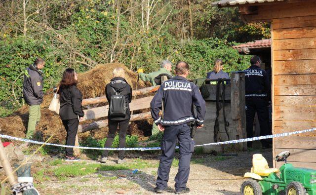 Policisti so včeraj preiskovali okoliščine usodnega pretepa. FOTO: Tanja Jakše Gazvoda