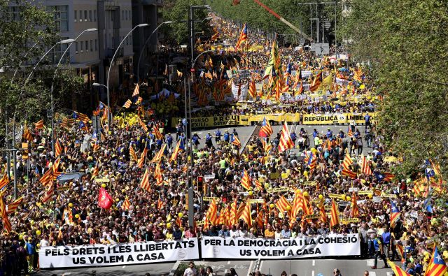 Katalonsko prestolnico so v zadnjem času zaznamovali številni protesti. FOTO: Reuters Reuters