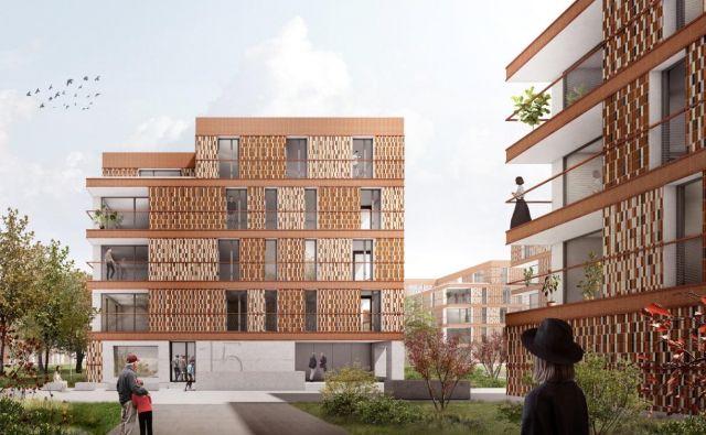 Do leta 2021 naj bi bila vseljiva prva najemna stanovanja na Novem Brdu. FOTO: Stanovanjski Sklad RS