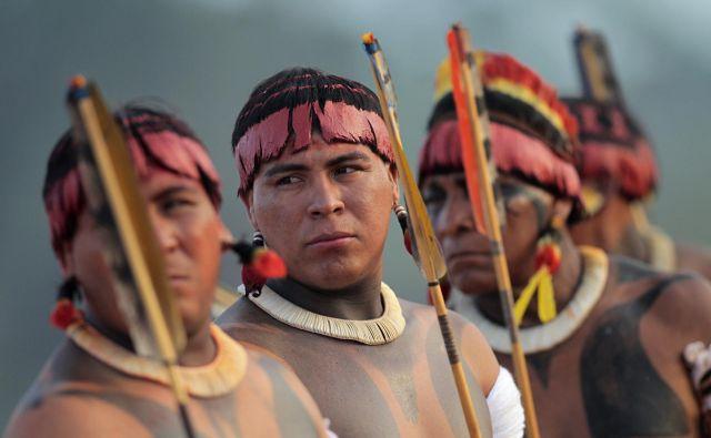 Za Darcyja Ribeiro so domorodna ljudstva (na fotografiji Yawalapiti) predstavljala neodtujljive »korenine brazilske nacije«. FOTO: Reuters
