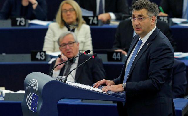 Andrej Plenković in Jean-Claude Juncker FOTO: Vincent Kessler Reuters