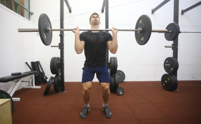 Žan Kranjec je v telesni pripravi letos v primerjavi z lani napredoval za 15 do 20 odstotkov. FOTO: Tadej Regent/Delo