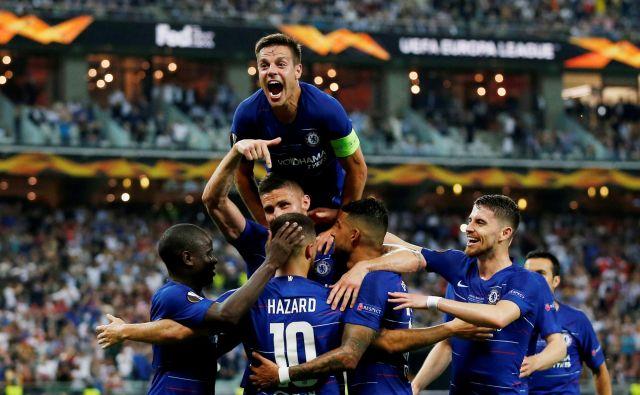 Chelsea je branilec naslova zmagovalca evropske lige za sezono 2018/19 in po formatu 48 moštev. Od leta 2021 bo v drugem kakovostnem razredu klubskih tekmovanj nastopilo le 32 moštev. FOTO Reuters