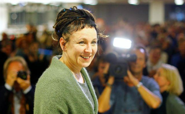 Nobelova nagrajenka za leto 2018 je točno takšna, kakršno menda potrebujemo – »Feministka z dreadlocksi« Olga Tokarczuk. FOTO: Thilo Schmuelgen/Reuters