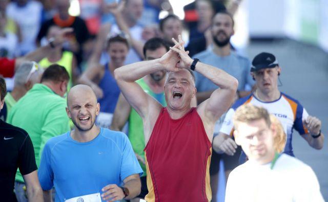 Kljub vse večjemu ugledu ljubljanskega maratona v tujini je jasno, da bodo gonilna sila prireditve tudi v prihodnje domači tekači. Foto Roman Šipić