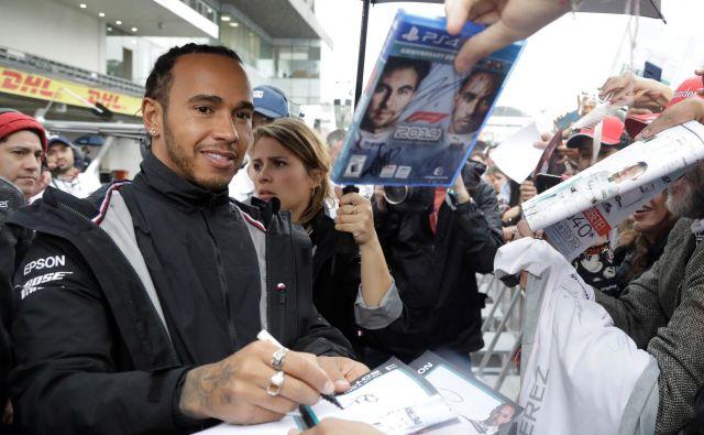 Lewis Hamilton je v Mehiki zmagal samo enkrat, si je pa tam zagotovil zadnja naslova svetovnega prvaka.<br /> FOTO: Reuters