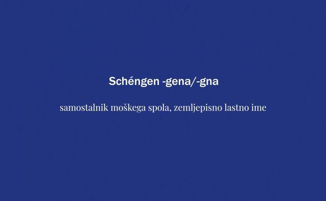 Tokratna beseda je schengen. FOTO: Delo