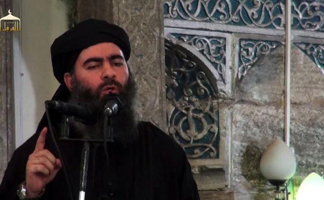 Abu Bakr al Bagdadi na fotografiji s petega julija 2014. Foto - Afp