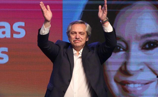 Podpora Albertu Fernandezu se je v anketah pred volitvami gibala med 48 in 55 odstotki. FOTO: Agustin Marcarian/Reuters