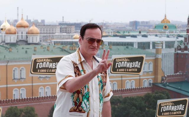Quentin Tarantino na promociji novega filma v Moskvi. FOTO: Shamil Zhumatov/Reuters