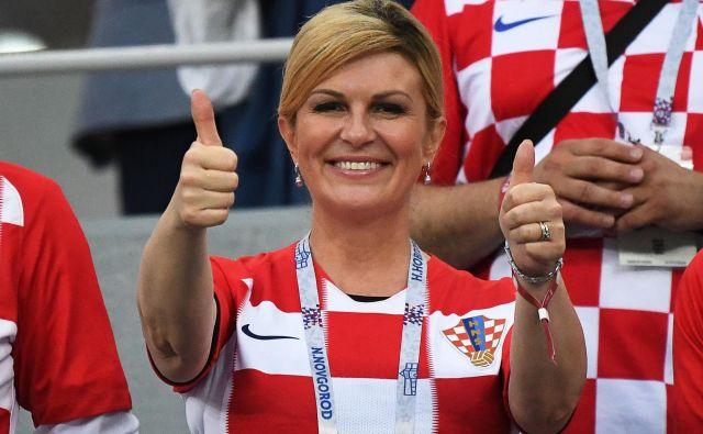Kolinda Grabar-Kitarović lahko končno svobodno izraža svoje mnenje in razkazuje pripadnost hrvaškemu narodu. FOTO: Dimitar Dilkoff/AFP