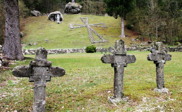 Pokopališča v dolini Soče - spomin in opomin na 1. svetovno vojno.