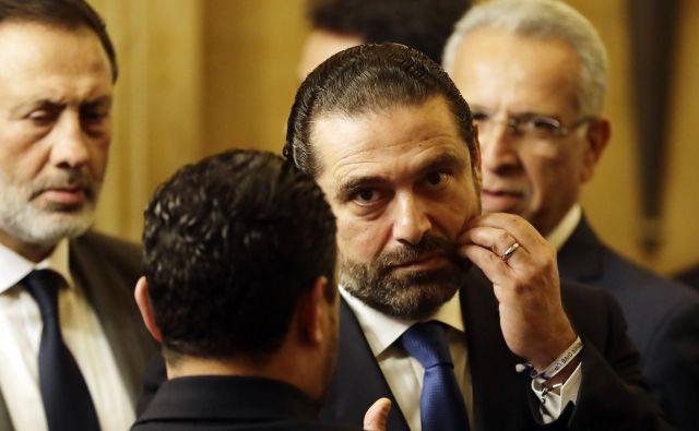 Odstop Saada Haririja je bilo mogoče pričakovati. Foto Afp