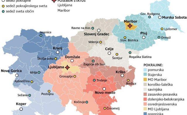 Vsi sedeži v bodočih pokrajinah: sedež pokrajine, sedež pokrajinskega sveta, sedež sveta občin. Foto Strokovna skupina za pripravo pokrajinske zakonodaje
