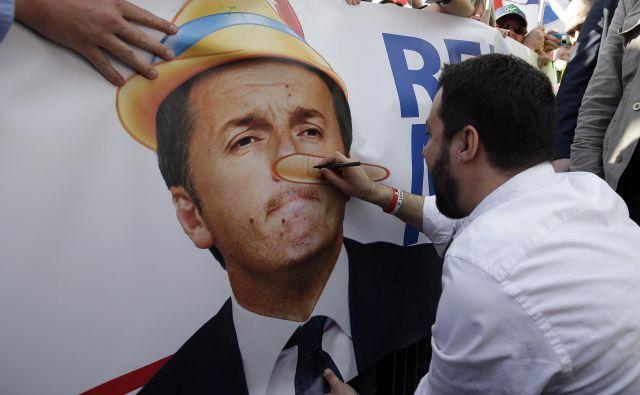 Matteo Salvini in Matteo Renzi Foto Max Rossi Reuters