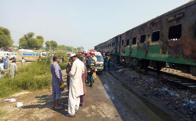 Železniške nesreče v Pakistanu niso nobena redkost. FOTO: Afp