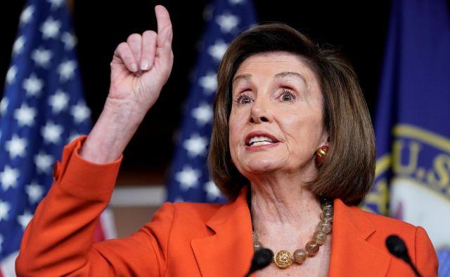 Demokratska predsednica predstavniškega doma Nancy Pelosi. Foto Joshua Roberts Reuters
