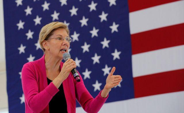 Elizabeth Warrenpodpira čedalje več Američanov. FOTO: Brian Snyder/Reuters