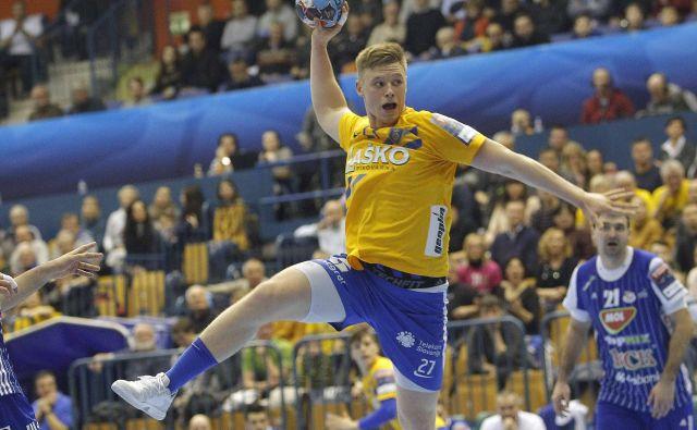 Kristjan Horžen se je izkazal s šestimi goli, kar je njegov osebni rekord v ligi prvakov. FOTO: Mavric Pivk