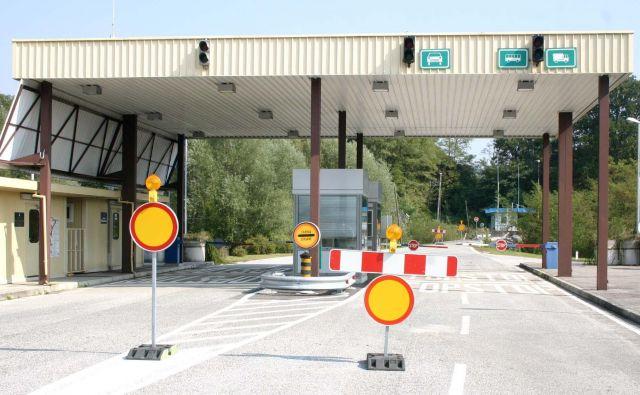 Mejni prehod Imeno oziroma Miljana v bližini Podčetrtka. FOTO: G. U.