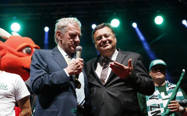 Predsednik NK Olimpija Milan Mandarić je imel kapital, župan Zoran Janković vpliv, a Olimpijini zgodbi se v glavnem mestu kljub vsemu slabo piše. FOTO: Uroš Hočevar
