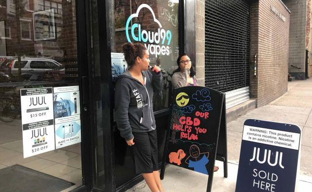 Juul je zelo hitro pridobil velik delež na ameriškem trgu e-cigaret. Foto Reuters