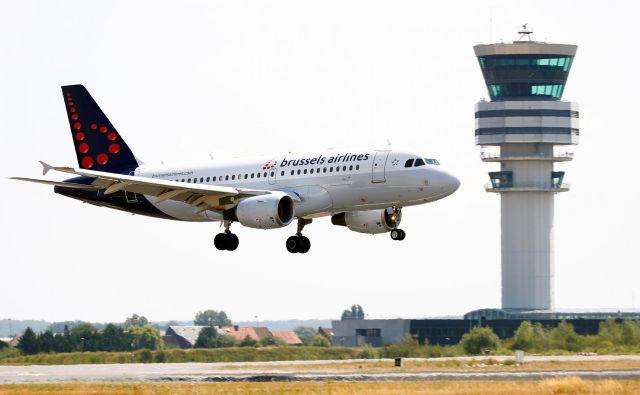 Brussels Airlines belgijsko prestolnico povezuje z več kot 100 destinacijami po svetu. FOTO: Francois Lenoir/Reuters