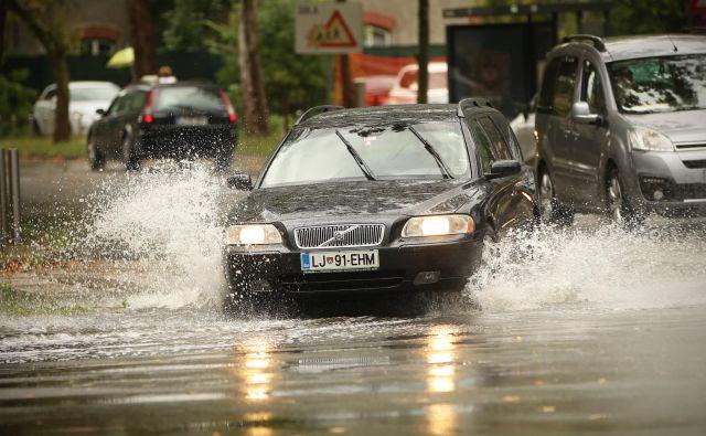 Predvsem v zahodni Sloveniji bo do torka zvečer padlo veliko dežja. FOTO: Jure Eržen/Delo