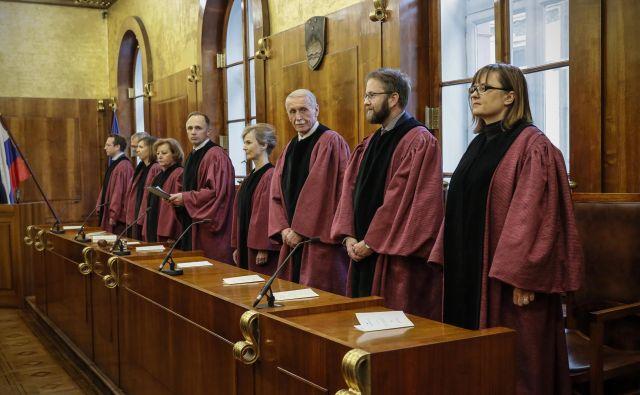 So ustavni sodniki le v škrlatne toge preoblečeni politiki? FOTO: Uroš Hočevar