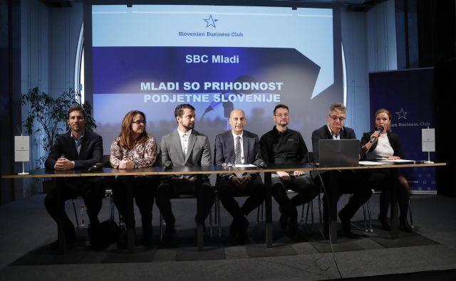 Tiskovna konferenca SBC – Kluba slovenskih podjetnikov. Foto: Leon Vidic/delo