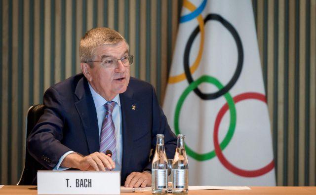 Predsednik Mednarodnega olimpijskega komiteja Thomas Bach je razkril, da bo MOK namenil deset milijonov dolarjev za desetletno shranjevanje dopinških vzorcev in za njihova ponovna testiranja. FOTO: Fabrice Coffrini/AFP