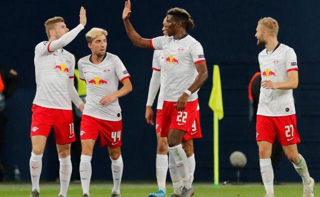 Leipzig je iz Rusije domov odnesel tri točke. Slovenski nogometaš Kevin Kampl (drugi z leve) je v igro vstopil v 46. minuti. FOTO: Reuters