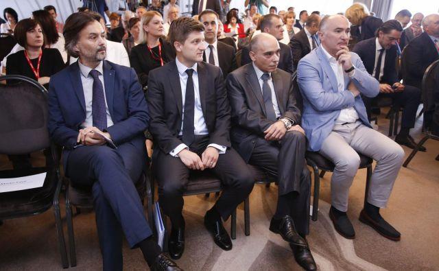 Po mnenju Zdravka Marića (drugi z leve) bo tako kot doslej eno glavnih gonil rasti hrvaškega BDP domače povpraševanje. FOTO: Marko Todorov/ Cropix