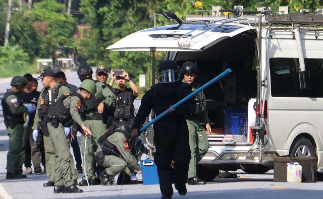 Tajska vojska je odgovornost za napad pripisala separatističnim borcem. FOTO: Tuwaedaniya Meringing/AFP