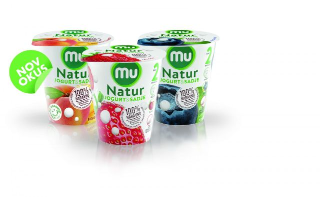 Linija Mu Natur, Jogurt. Sadje in nič drugega. FOTO: Ljubljanske mlekarne