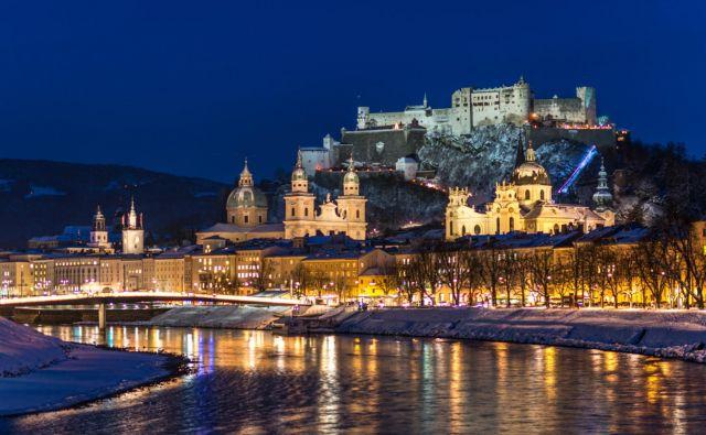 Salzburg je idiličen v vseh letnih časih, posebej pa pozimi. FOTO: Guenter Breitegger