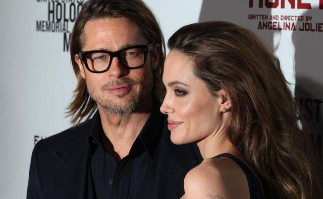 Angelina Jolie in Brad Pitt FOTO: Shutterstock