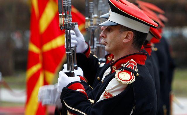 Vstop Severne Makedonije v Nato bi lahko bil potrjen že na decemberskem vrhu zavezništva v Londonu. Foto Reuters