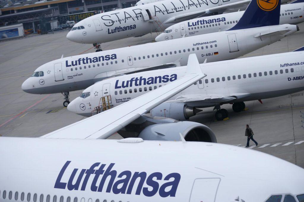 Stavka Lufthanse bo najbolj prizadela Nemčijo