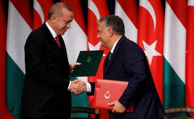 Postanek v Budimpešti je bil Erdoğanov tretji uradni obisk na Madžarskem v zadnjih šestih letih. Foto Reuters
