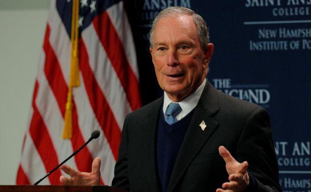 Bloomberg med januarskim nastopom v Manchestru, New Hampshire. FOTO: Brian Snyder Reuters