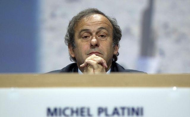 Michel Platini zahteva 7,2 milijona evrov povračila. FOTO: Sebastian Derungs/AFP