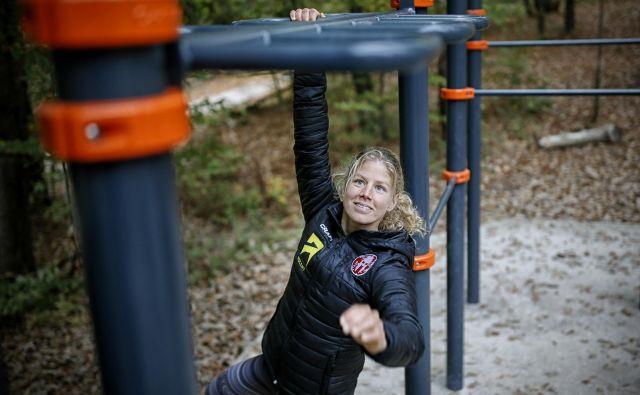Rea Kolbl je poklicna tekmovalka v oviratlonih in je pri 28 letih med najboljšimi na svetu. Foto Blaž� Samec