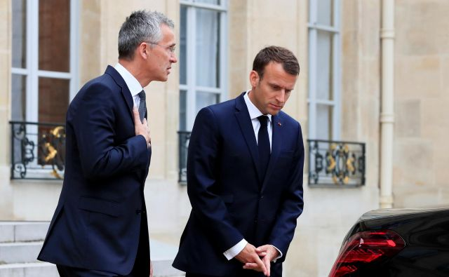 »Evropska unija ne more braniti Evrope,« se je Jens Stoltenberg odzval na Macronove ostre kritike Nata. Foto Reuters