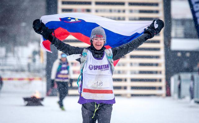 Rea Kolbl se je veselila zmage na svetovnem prvenstvu na Švedskem.